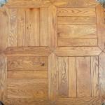 parquet a listoni in legno massello effetto quadroni