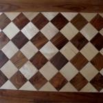 foto parquet in legno massello a quadroni
